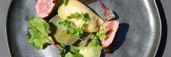 3. Poire bœuf expression d'artichaut et jus réduits