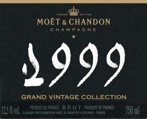 Moet & Chandon Grand Vintage etiquette bouteille 1999