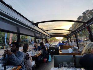 """Blog """"Voyage Insolite"""" à Paris avec le Bustronome sur les Champs-Elysées pour le coucher de soleil"""